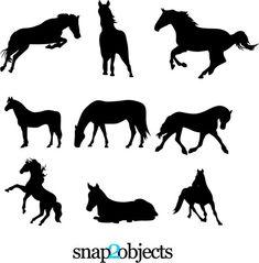 Horse Silhouette Vectors