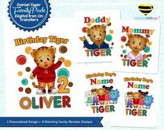 Daniel Tiger Iron On Transfer Family Pack, Style #02 - Best Value! - LuvibeeKidsCo