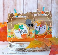 Fall Treat Boxes with my favorite new paper collection!