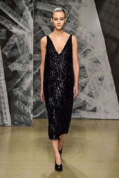 Milan Fall 2016 Trends | All-over sequins at Jill Sander RTW Fall 2016 #MFW [Photo: Giovanni Giannoni]