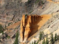 Best Things to Do at Crater Lake National Park... Pumice Castle - orange pumice rock eroded into the shape of a medieval castle, camping or RVing trip anyone?