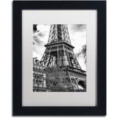 Trademark Fine Art Eiffel Tower Paris II Canvas Art by Philippe Hugonnard, White Matte, Black Frame, Size: 16 x 20