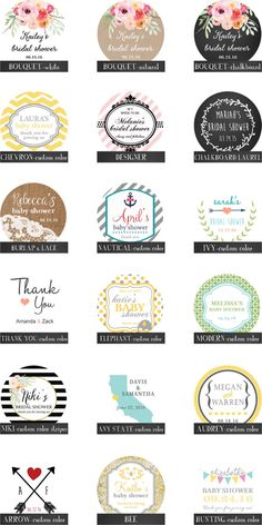 36 Mason Jar Labels 2 Inch Round Fit 4oz Or 8oz Regular Mouth Jars Design Of Your Choice