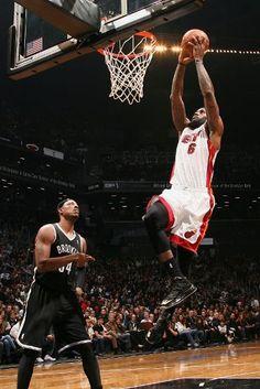 Lebron James and Paul Pierce (Brooklyn Nets)