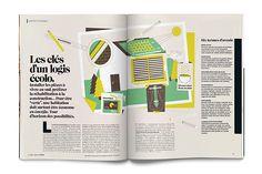 M Magazine, C'est une maison verte on Behance
