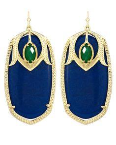 Darby Earrings in Blue Marine - Kendra Scott Jewelry