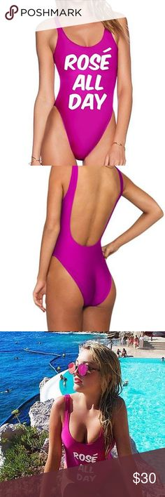Rosé All Day Bathing Suit So cute!! Swim One Pieces