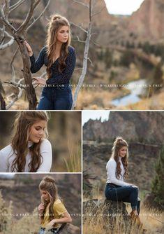 Bend, Oregon high school senior pictures at Smith Rock by Eugene senior portrait photographer, Holli True