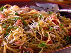 Whole-Grain Spaghetti with Pecorino, Prosciutto and Pepper
