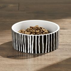 Shop Small Black Stripes Dog Bowl. Our exclusive pet bowls in casual, contemporary designs go with any décor.| Dog Gear | Puppy Gear | Dogs | Raising a Dog | Dog Training | Puppies | Dog Bowls | Home Goods | Dog Dish | Dog Food | Bowls | Stylish Dog | Dog Fashion | Dishes | Ceramics | Kitchen Dishes | Concrete Dog Bowl | Raised Dog Bowl | Dog Bowl Stand