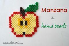 Manzana hama beads / www.elenarte.es
