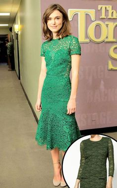Miss sixty green daray lace dress