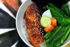 Salmon with Soy Sauce, Mirin, and Sake Recipe. This Japanese-inspired dish is delicious any time of the day: breakfast, lunch or dinner. Serve with rice, ste...