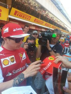 Meet the Fans w/Kimi Raikkönen for the 2014 Perelli Formula One Grand Prix of Spain #F1