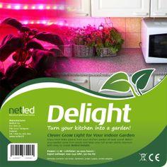 Netled Delight ledvalolla kasvatat syötävän hyvää kotikeittiössäsi. www.netled.fi