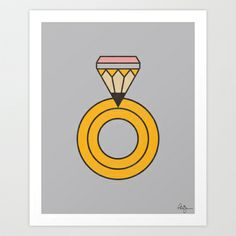 Draw Ring Art Print by Phil Jones - $19.00