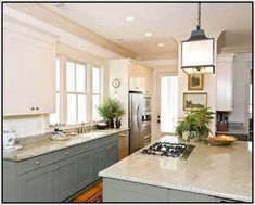 Painted Kitchen Cabinets Two Different Colors   Sets Design Ideas