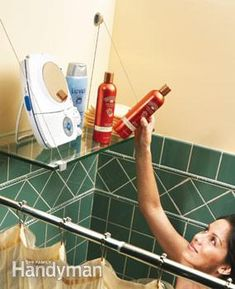 Tile a 4x2 and attach a shelf, attach the whole thing to the wall like a back splash