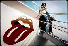 Keith getting off the plane by Ethan Russel (1972)