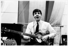 """On 6 June as part of their audition at EMI Studios at 3 Abbey Road in London, John Lennon, Paul McCartney and George Harrison met to record their first single """"Love me Do"""", with P… Beatles Bass, Beatles Bible, Beatles Albums, The Beatles, Abbey Road, Ringo Starr, Paul Mccartney, Happy Birthday Beatles, George Martin"""