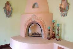mexican style fireplaces - Google Search