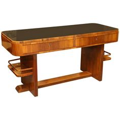 Walnut Desk | From a unique collection of antique and modern tables at https://www.1stdibs.com/furniture/tables/tables/