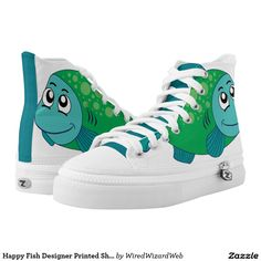 Happy Fish Designer Printed Shoes