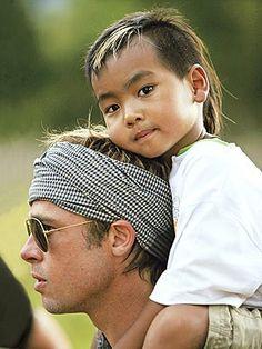 Maddox Jolie-Pitt and his Dad Brad Pitt