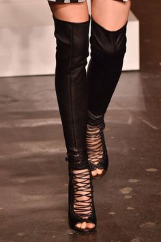Givenchy by Ricardo Tisci's hybrid boot-sandal has a killer combination of sex appeal and edge.  Imaxtree  - HarpersBAZAAR.com