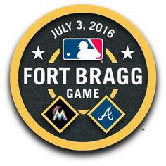 "The #Braves & Marlins will play a first-of-its-kind regular season game in celebration of the nation's servicemen and servicewomen at Fort Bragg, North Carolina on Sunday, July 3rd! The game will air nationally on ESPN's ""Sunday Night Baseball"" and ESPN Radio at 8:00 p.m. (ET)."