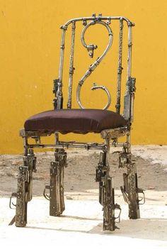 Gun Metal Furniture / Peace Art Project Cambodia Twists Gun Metal into Furniture