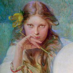 "Alphonse Mucha, ""The Artist"""