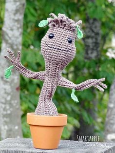 Download Dancing Baby Groot Amigurumi Pattern (FREE)