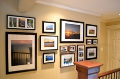 a home in the making: {2012} A Home in the Making...gallery wall of travel/landscape photos.  love this wall
