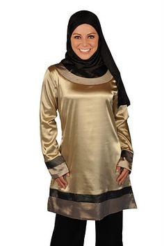 Love this tunic - sweet color + I love the shiny fabric.