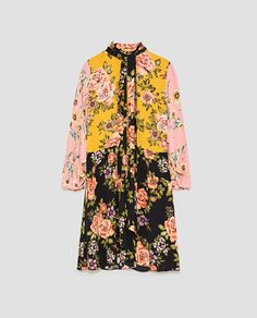 Image 8 of FLORAL PATCHWORK DRESS from Zara