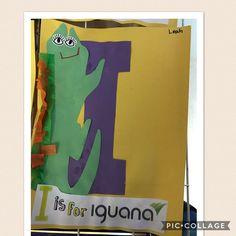 """Letter I.  """"I is for Iguana"""""""