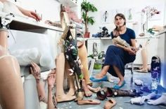 Sophie de Oliveira Barata is a prosthetics artist creating gadget limbs for amputees
