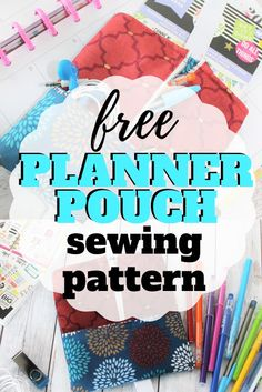 Sew up your own planner pouch to keep all those stickers, pens and sticky notes organized. Sewing Patterns For Kids, Easy Sewing Projects, Sewing Projects For Beginners, Sewing For Kids, Sewing Tutorials, Free Sewing, Sewing Crafts, Sewing Tips, Sewing Ideas