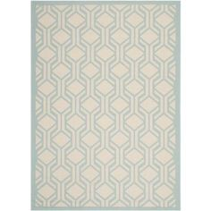 Safavieh Courtyard Beige/Aqua 5.3 ft. x 7.6 ft. Area Rug-CY6114-213-5 at The Home Depot