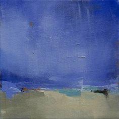 "Saatchi Art Artist Jacquie Gouveia; Original 12x12 Painting, ""To the Beat"" Beach Seascape, Cottage Decor, Beach House, Coastal Decor"
