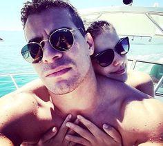 Thiago Martins e Paloma Bernardi durante as mini-férias em Paraty, no Rio (Foto: Reprodução Instagram)