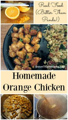 Real Food Homemade Orange Chicken (Better Than Panda): BrownThumbMama.com