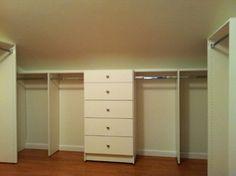 Attic Converted into Closet traditional closet