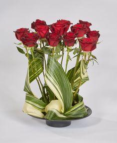 Swirling Aspidistra Valentine Floral Design