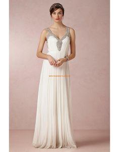 Elegante Bodenlange Hochzeitskleider aus Chiffon