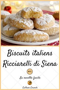 Biscuits italiens : Ricciarelli di Siena – Famous Last Words Italian Christmas Cookie Recipes, Italian Cookie Recipes, Italian Cookies, Italian Snacks, Italian Desserts, Best Peanut Butter Cookies, Peanut Butter Cookie Recipe, Biscuit Cookies, Biscuit Recipe