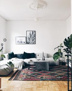 my scandinavian home: Hay mags sofa and petit friture light in a Hamburg apartment (click image for full tour!).