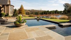 Keane's Pool rehab services can give your pool a new life. You'll never want to leave your yard! We are family owned and operated, serving the greater DFW for 40 years! Pool Paving, Flagstone Patio, Curved Patio, Small Patio, Swimming Pool Designs, Swimming Pools, Floor Design, House Design, Wall Design