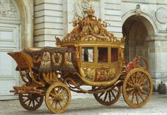 """Carriage for the Coronation of Charles X, King of France    Carrosse du sacre de Charles X, """"Le sacre"""""""